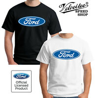 Velocitee Mens T-Shirt Official Licensed Ford Blue Oval Logo Design A12614