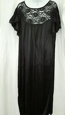 SOFT AND SEXY ANTHONY RICHARDS LONG  BLACK LACE NYLON NIGHTGOWN SIZE 2X GIFT