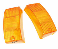 Front Indicator Amber Orange Lens Set for VESPA PX PX80-200 PE LUSSO T5 LML ECs