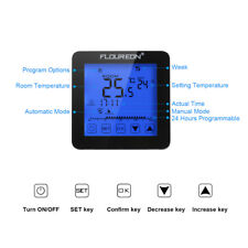 LCD Touchscreen Electric Underfloor Heating Thermostat Temperature Controller UK