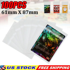 100 Ultra Clear Deck Protectors Card Sleeves for MTG Magic Pokemon Standard Size