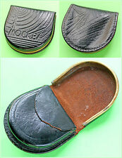 Vintage Russian Soviet era Real Leather Pocket Coin Purse Moscow 1960's
