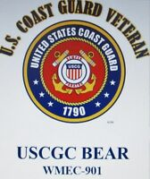 USCGC BEAR*  WMEC-901* FAMOUS CLASS COAST GUARD VETERAN EMBLEM*SHIRT