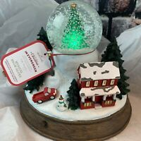 Hallmark 2019 Christmas in Evergreen Large Snow Globe Lighted Musical House