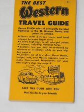 Vintage The Best WESTERN Travel Guide #3 1950's