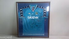 Framed and Signed Manchester City football Shirt MCFC  MAN CITY  MANCHESTER CITY