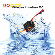60A Esc Sensorless Waterproof Brushless Speed Controller For 1/10 Rc Car Truck
