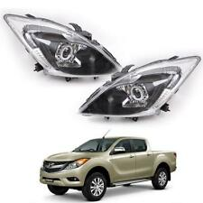 For Mazda BT50 Pro Facelift 2012 - 2018 LED Projector Angle Eye Halo Head Light