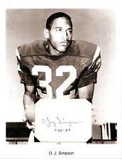O.J. Simpson Autograph NFL Football Player USC Trojans Buffalo Bills SF 49ers #2
