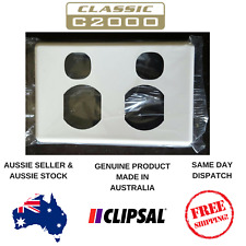 Cover Plate to suit Clipsal Classic Double Powerpoint C2025