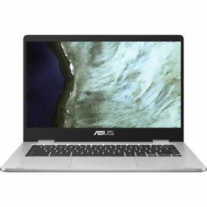 "NEW! Asus C423 Chromebook 14"" Intel Celeron N3350 32GB eMMC 4GB Chrome OS"
