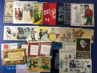 32 COMIC Antique Greetings Postcards 1900s. Divided Backs. Collector Items