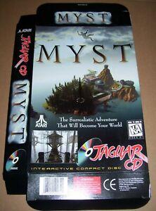Atari Jaguar 64-Bit Games Console Original Myst CD Game Box NEW P/N: J9069E