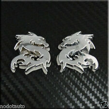 Car Chrome Dragon (small)  Tribal Side Trunk Badge Emblem Sticker 2pcs set