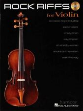 Rock Riffs for Violin Learn How to Play Sheet Music Book with CD