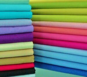 100% Cotton Fabric Plain Solid Colours for crafts and quilting