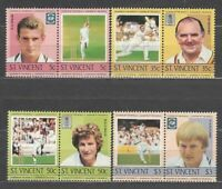 San Vincent - Mail Yvert 796/803 MNH Sports Cricket