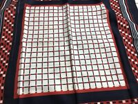 """red white blue 26"""" square scarf"""
