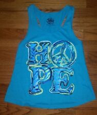 Justice Shirt HOPE & PEACE SIGN Summer Top Size 10