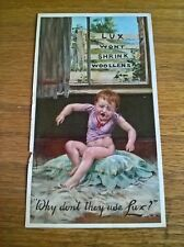 Lever Sunlight Lux soap flakes trade advertising card flyer