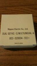 NOS genuine Nec print thimble for NEC impact printers. Font Dual Gothic 12 multi