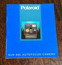 Polaroid Sun 660 Autofocus Camera Instructions Book (Book Only)