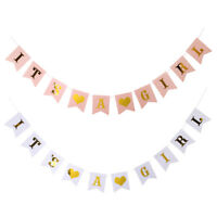 It's A Girl Hanging Bunting Banner Gender Reveal Baby Shower Party Decorations
