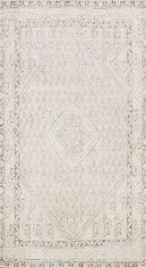 Muted Semi-Antique Paisley Tebriz Distressed Handmade Area Rug Wool Oriental 4x6