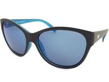 Dirty Dog polarisé femmes flèche Lunettes de soleil noir satiné bleu/miroir bleu
