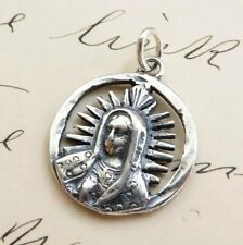 Our Lady of Guadalupe Mexican Centavo Medal - Sterling Silver Antique Replica