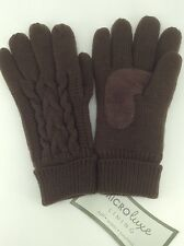 Women's ISOTONER Brand Brown Soft Cabled Winter Gloves - 1 size - $32 MSRP -25%