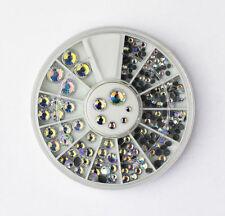 3D CLEAR IRRIDESCENT NAIL ART RHINESTONE WHEEL #244  nail art crystal craft gems