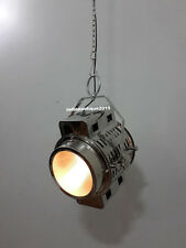 Industrial Wave Nautical Chrome Pendant Hanging Ceiling Light  Office Home Decor