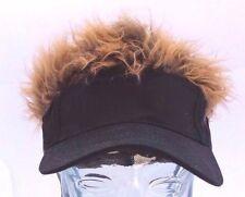 BRAND NEW! Hair Hat! Black Hat wIth WILD Brown Hair! Cap Visor NEW! Flair!