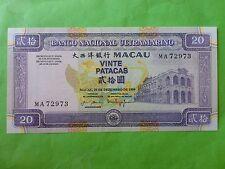 Macau Banco Nacional Ultramarino 20 Patacas 1999 (PERFECT UNC) MA 72973