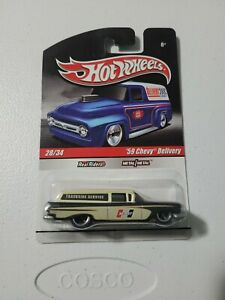 🔥 HOT WHEELS SLICK RIDES '59 CHEVY DELIVERY REAL RIDER NICE 🔥