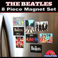 THE BEATLES Magnet Set 8 Piece Beatles Refrigerator Toolbox Man Cave Magnets