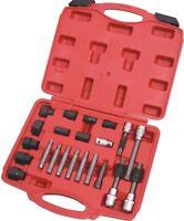 Automotive Alternator Freewheel Pulley Removal Spline Socket Set 23pcs Car Tool
