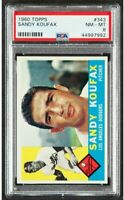 1960 Topps Sandy Koufax #343 PSA NM-MT 8  Centered with Nice Coloring  HIGH END