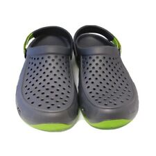 Crocs Mens black and Green Clogs Size 13