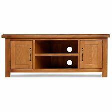 Melrose solid oak furniture plasma television cabinet stand unit with doors