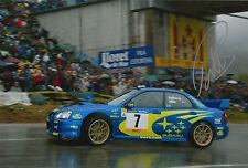 Petter Solberg Hand Signed Subaru Impreza 12x8 Photo Rally World Champion 9.