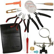 Deluxe 16 Pieces Jewelry Making Supplies Tools in Zippered Case Professional