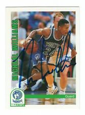 Autographed 1992-93 Sky Box Michael Williams Timberwolves Basketball card #426