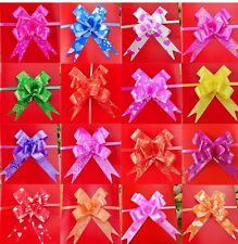 50 Large Pull Bow Ribbons happy birthday&wedding party new decorations,