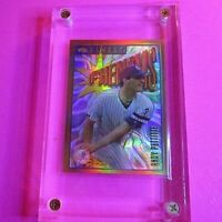 1996 Topps Finest REFRACTOR Phenoms Andy Pettitte #122 Rookie Yankees w protecto