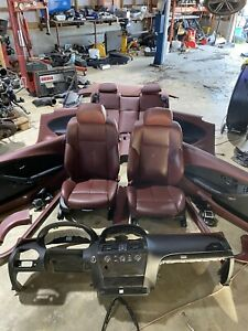 06-10 BMW 645i 650i M6 E63 Front & Rear Seat Set Coupe Red Leather