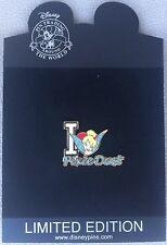 LE 500 Disney Pin Tinker Bell Tink I Love Heart Pixie Dust Fairy Sparkle Glitter