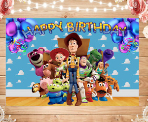 TOY STORY Birthday Party Banner Backdrop , FIESTA cumpleaños  🎈🧁🍰