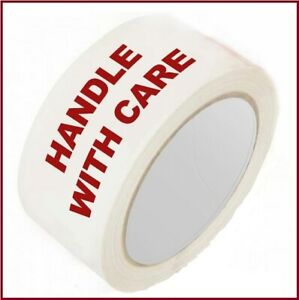 30 ROLLS HANDLE WITH CARE  PRINTED PARCEL PACKING TAPE 48MM X 66M CARTON SEALING